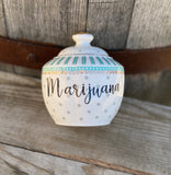 Marijuana | vulgar vintage style porcelain sugar bowl/stash box