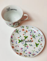 Arsenic | vulgar vintage style 10oz tea cup and saucer