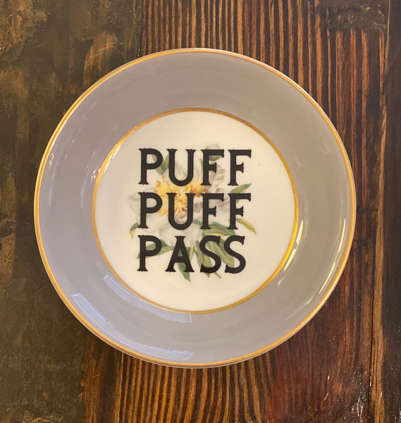 PUFF PUFF PASS | vulgar vintage magnolia ring dish/rolling tray
