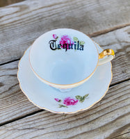 Tequila | vulgar vintage china tea cup and saucer