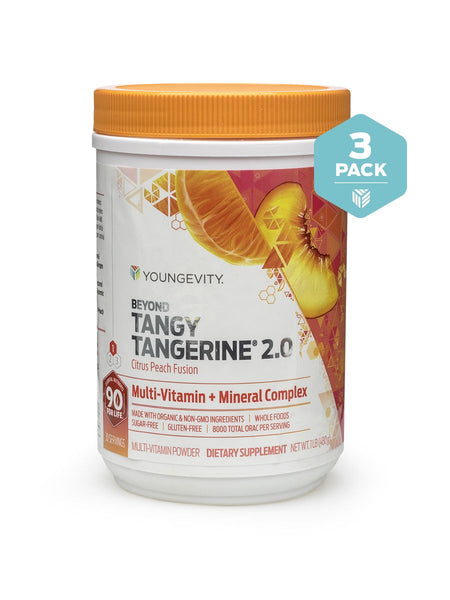 Beyond Tangy Tangerine 2.0 is the most advanced multi-vitamin mineral complex to date that provides you the highest quality essential nutrients that your body needs for optimal health. Synergizing cofactors ensure maximum nutrient absorption and benefits.