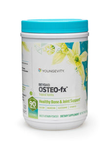 Beyond Osteo-fx Powder was formulated to support optimal bone and joint health containing nutrients that enhance calcium absorption by the body in an easy to consume powder form. 357g Canister. Adult: Mix 1 scoop in water/juice per 100 lbs of body weight one to two times daily.