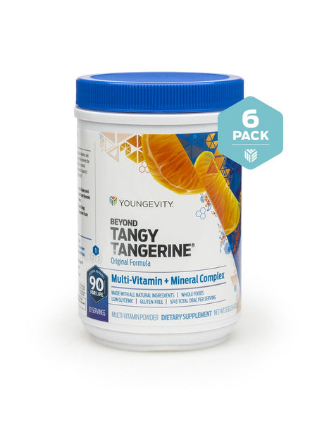 Beyond Tangy Tangerine contains a base of Plant Derived Minerals blended with vitamins amino acids and other beneficial nutrients to make a balanced and complete daily supplement.