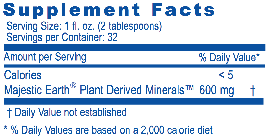 Majestic Earth® Plant Derived Minerals™