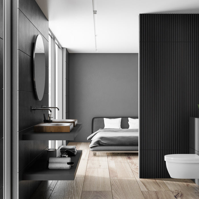Wall paneling ideas for bathrooms using wood!