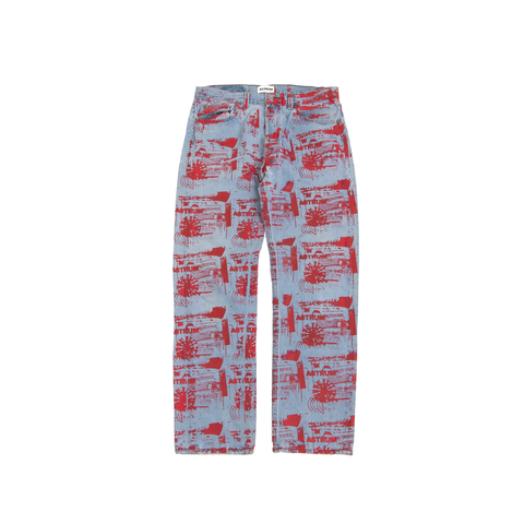 ASTRUM SPIRAL PRINT DENIM (RED)