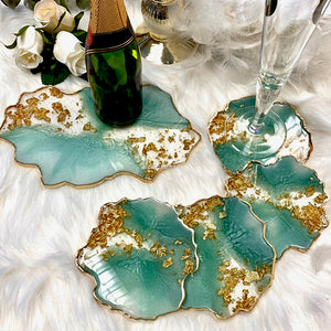 DIY Glam Resin Coaster
