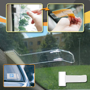 [PROMO 30% OFF] Easy Stick-on Car Ticket Holder