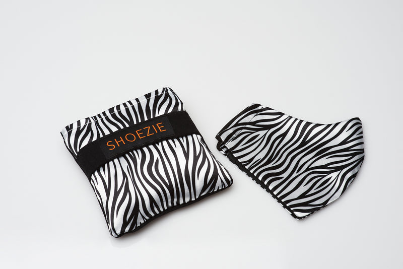 Shoezie and Mask Gift Pack - Zebra Stripe