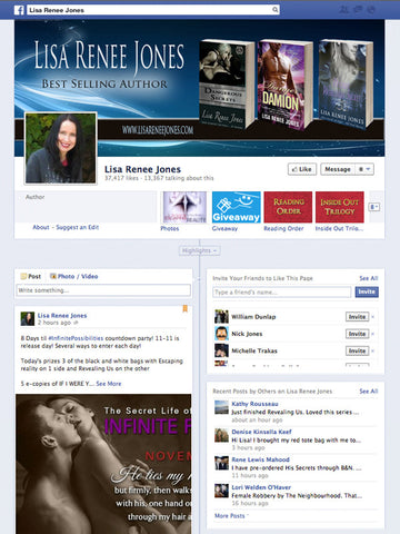 Facebook cover image example for Lisa Renee Jones