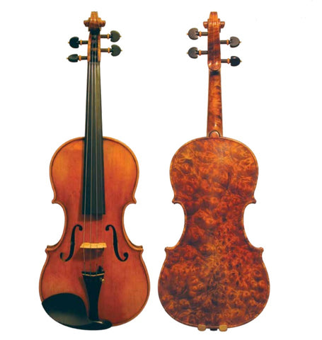 Maple Leaf - Burled Maple Craftsman Collection Violin 4/4 Size