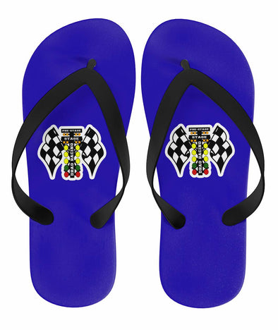 Drag Racing Flip Flops Blue