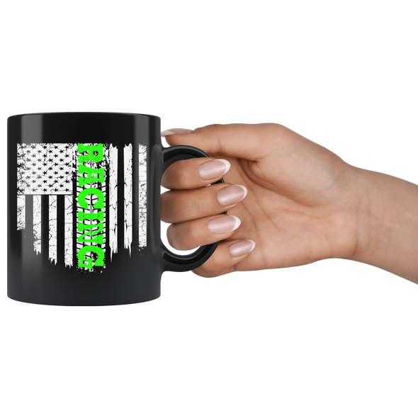 Racing US Flag LimeGV Mug!