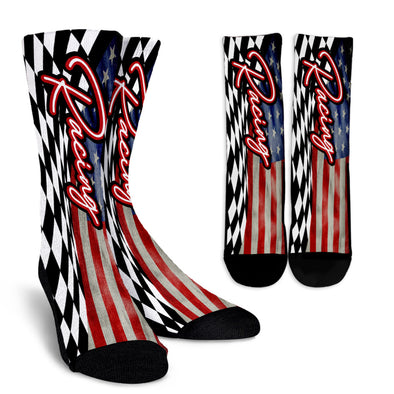 USA Racing Crew Socks