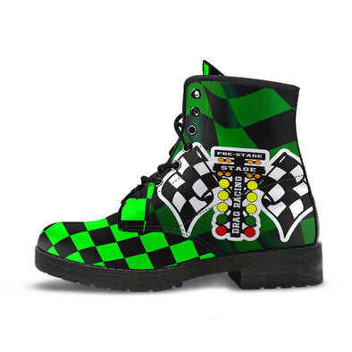 Drag Racing Pistachio Flag Boots