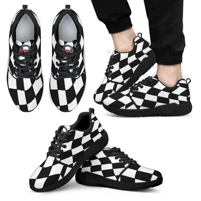 racing checkered sneakers