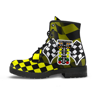 Drag Racing Yellow Flag Boots