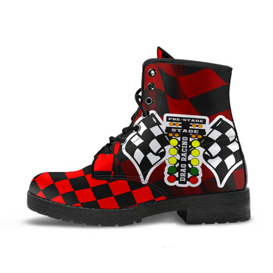 Drag Racing Red Flag Boots