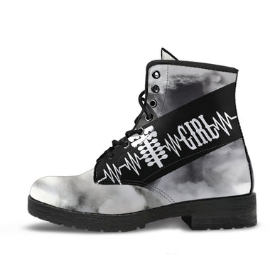 Drag Racing Girl Heartbeat Boots