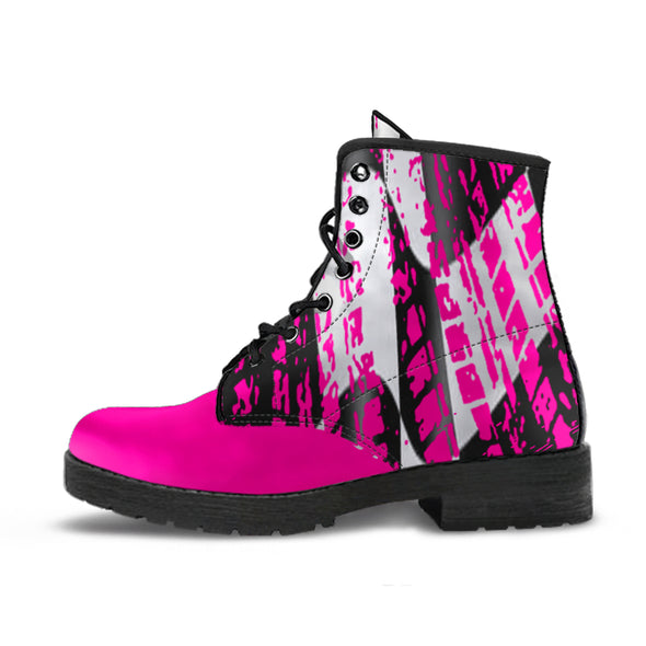 Racing Checkered Boots Pink