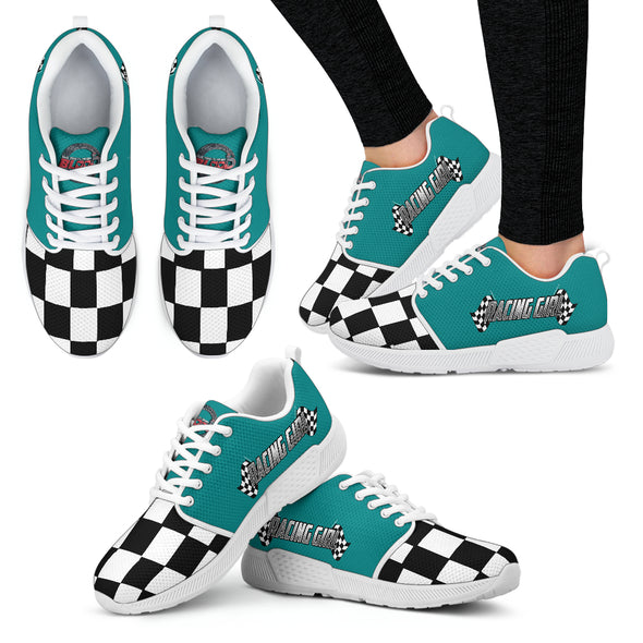 Racing Girl Athletic Sneakers Teal WS