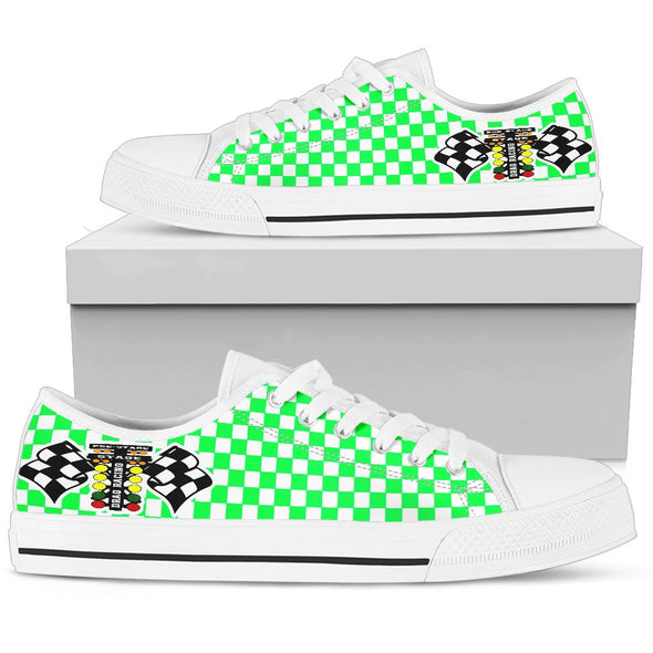 Drag Racing Pistachio Flag Low Tops White