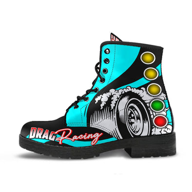 Drag Racing Boots carolina blue