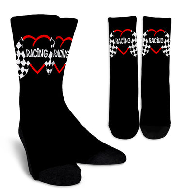 Racing Heart Crew Socks