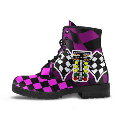 Drag Racing Pink Flag Boots