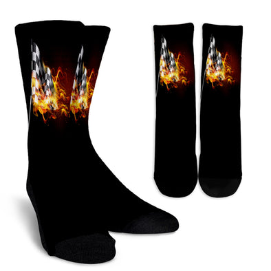 Racing Flag Of Flame Crew Socks