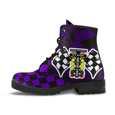 Drag Racing Purple Flag Boots