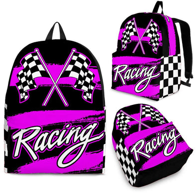 Racing backpack Pink!
