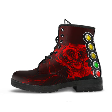 Drag Racing Thunder Skull Boots