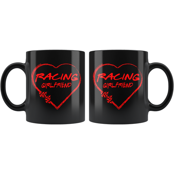 Racing Girlfriend Heart Mug!