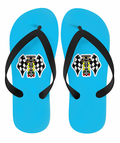 Drag Racing Flip Flops Carolina Blue