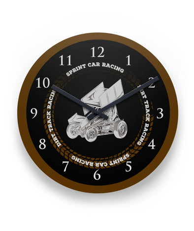 Sprint Car Wall Clock