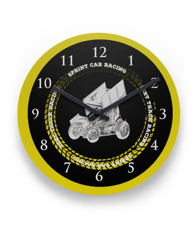 Sprint Car Round Wall Clock