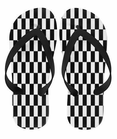 Racing Checkered Flag Flip Flops