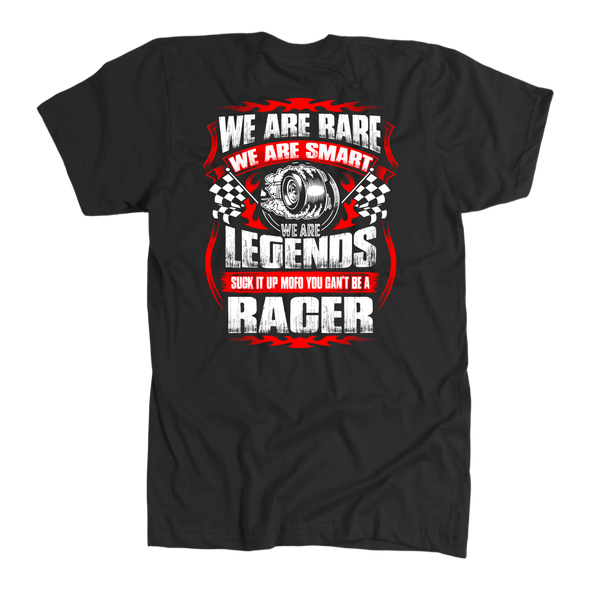 We Are Rare We Are Smart Racer T-Shirts!