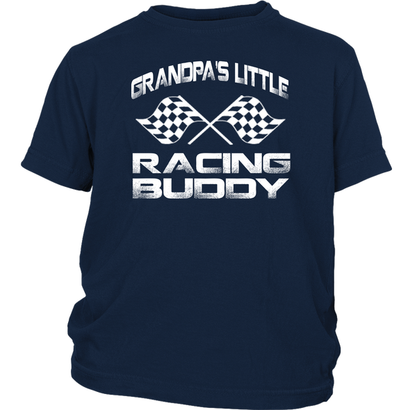 Grandpa's Little Racing Buddy Onesies And T-Shirts!