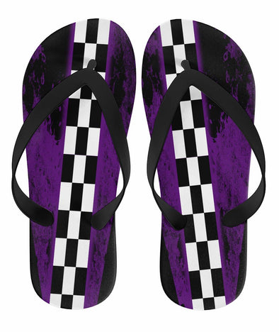 Racing Flip Flops Purple