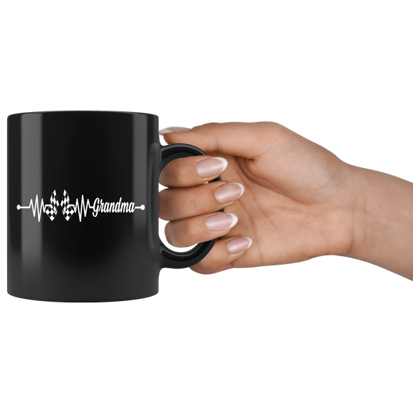 Racing Grandma Heartbeat Mug!