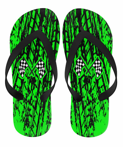 Dirt Racing Flip Flops Pistachio