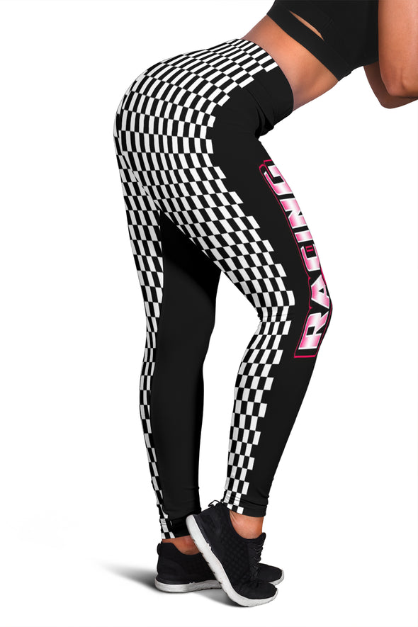 Racing Girl Checkered Leggings