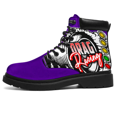 Drag Racing All-Season Boots purple