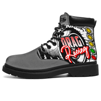Drag Racing All-Season Boots grey