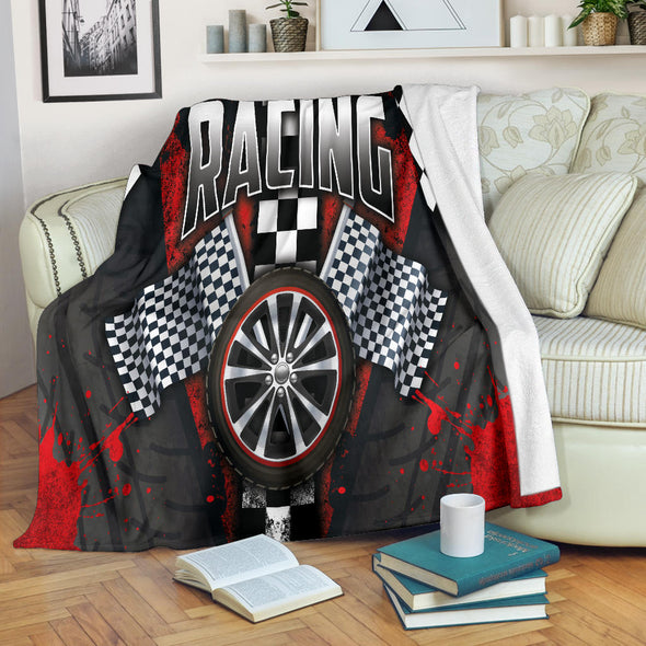 Racing Red Blanket
