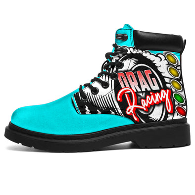 Drag Racing All-Season Boots carolina blue
