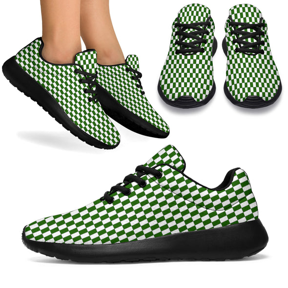 Racing Green Checkered Flag Sneakers Black