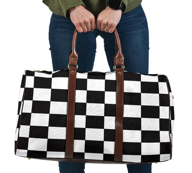 Racing Checkered Flag Travel Bag RB-BrS